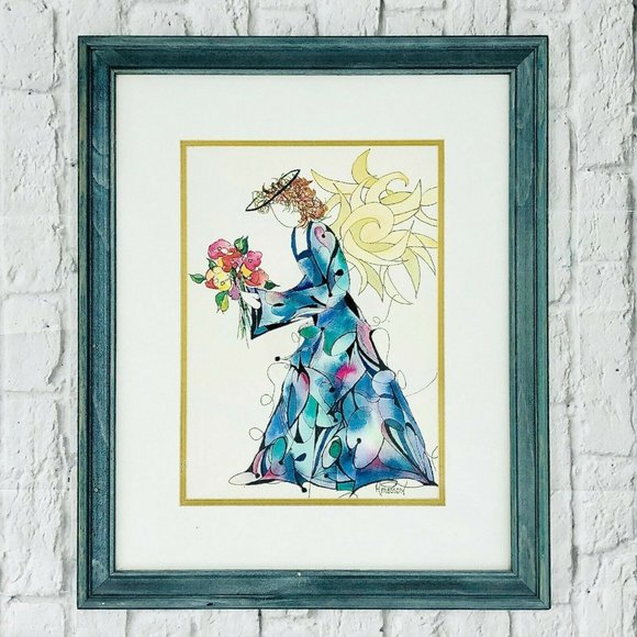 AMOSSON ANGEL Vintage Abstract Wall Art Love Heart